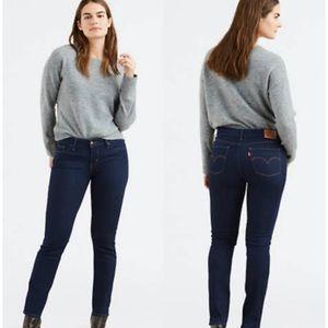 Levi's 712 Slim Dark Wash Mid Rise Skinny Jeans